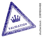validation triangle stamp seal. ... | Shutterstock .eps vector #1089804488