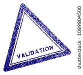 validation triangle stamp seal. ... | Shutterstock .eps vector #1089804500
