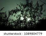 light breaks through the... | Shutterstock . vector #1089804779