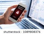 security breach warning on...   Shutterstock . vector #1089808376
