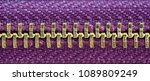 purple and gold zipper tightly... | Shutterstock . vector #1089809249