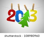 2013 year of paper on the... | Shutterstock .eps vector #108980960