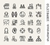 set of 25 people outline icons... | Shutterstock .eps vector #1089813710