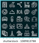 Set Of 25 Travel Outline Icons...