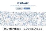 insurance banner design. vector ... | Shutterstock .eps vector #1089814883