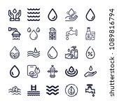 set of 25 water outline icons...   Shutterstock .eps vector #1089816794