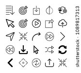 set of 25 arrows outline icons...   Shutterstock .eps vector #1089817313