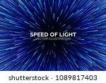 vector speed of light... | Shutterstock .eps vector #1089817403