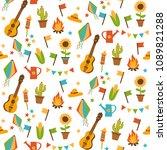 festa junina seamless pattern | Shutterstock .eps vector #1089821288