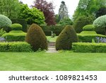 scenic view of a grass lawn and ... | Shutterstock . vector #1089821453