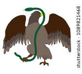 eagle fighting a snake serpent .... | Shutterstock .eps vector #1089821468