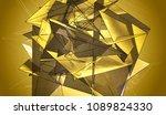 polygonal gold mosaic...   Shutterstock . vector #1089824330