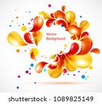 vector abstract background from ... | Shutterstock .eps vector #1089825149