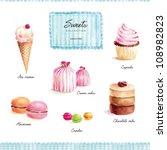 sweets set | Shutterstock . vector #108982823