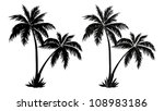 tropical palm trees  black... | Shutterstock . vector #108983186
