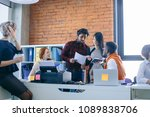 introducing with plan of work.... | Shutterstock . vector #1089838706