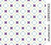 ancient geometric pattern in...   Shutterstock . vector #1089839363