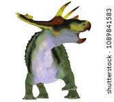 anchiceratops dinosaur on white ... | Shutterstock . vector #1089841583
