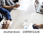 business team meeting... | Shutterstock . vector #1089841628