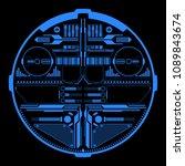 hud futuristic  blue elements... | Shutterstock .eps vector #1089843674