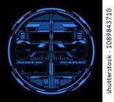 hud futuristic  blue elements... | Shutterstock .eps vector #1089843710
