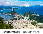panoramic view of botafogo and...   Shutterstock . vector #1089844976