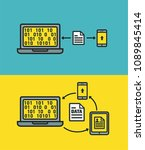icon exchange data and files... | Shutterstock .eps vector #1089845414