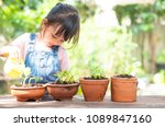 adorable 3 years old asian... | Shutterstock . vector #1089847160