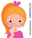 a teenage girl with a... | Shutterstock .eps vector #1089850124