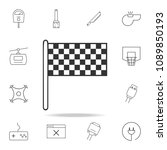 finish flag icon. detailed set...