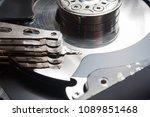 internal detail computer disk... | Shutterstock . vector #1089851468