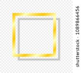 gold frame isolated on a... | Shutterstock .eps vector #1089866456