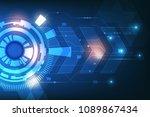 vector abstract technology... | Shutterstock .eps vector #1089867434