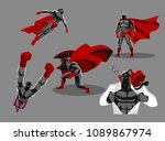 comic superhero actions in... | Shutterstock .eps vector #1089867974