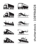 Passenger and cargo transportation - vector illustration