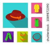 women clothing flat icons in...   Shutterstock .eps vector #1089872390