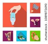 manipulation by hands flat... | Shutterstock .eps vector #1089872690