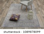 classic chair on the carpet on... | Shutterstock . vector #1089878099