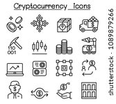 cryptocurrency icons set in...   Shutterstock .eps vector #1089879266