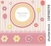 baby card  vector eps 10 .... | Shutterstock .eps vector #108988598