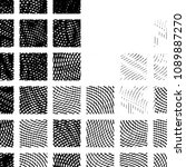 grunge halftone black and white ... | Shutterstock .eps vector #1089887270