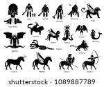 ancient greek mythology... | Shutterstock . vector #1089887789