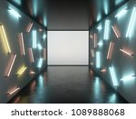 abstract contemporary art space ... | Shutterstock . vector #1089888068