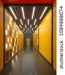 hallway interior with lamella... | Shutterstock . vector #1089888074