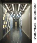 hallway interior with lamella... | Shutterstock . vector #1089888080