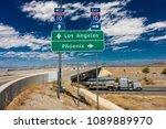 august 23  2017  semi truck... | Shutterstock . vector #1089889970