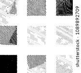 grunge halftone black and white ... | Shutterstock .eps vector #1089892709