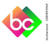letter bc logo with colorful...