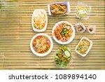 top view of local thai food... | Shutterstock . vector #1089894140