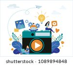 photography courses  tutorials  ... | Shutterstock .eps vector #1089894848